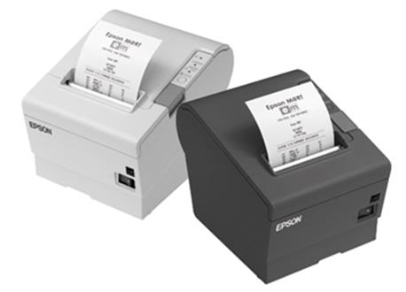 Epson TM-T88V, USB, RS-232, donkergrijs