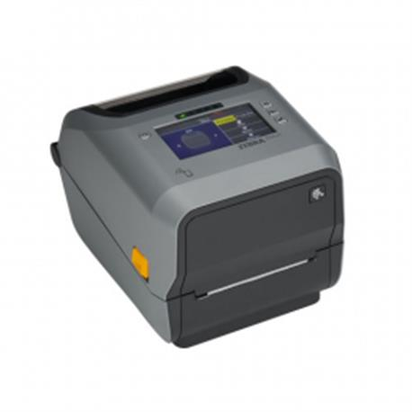 Zebra ZD621t, 8 dots/mm (203 dpi), cutter, disp., RTC, USB, USB Host, RS232, BT, Ethernet, WLAN, grijs